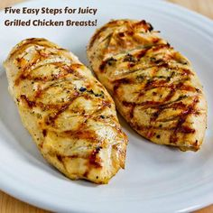 How to Make Juicy Grilled Chicken Breasts That Are Perfect Every Time; I have used these tips for years! [from Kalyn's Kitchen] #Grilling #SummerFood