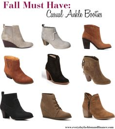Fall Must Have: Casual Ankle Booties