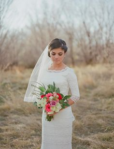 #modest #wedding #dress #sleeves #temple #lds #mormon #bridal #marriage