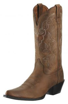 Womens Ariat Heritage Western J-toe Boots Brown #10009514 via @Allens Boots