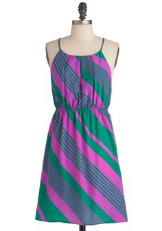 Refash neckline inspiration Stripe District Dress, #ModCloth