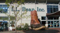 L.L. Bean's famous flagship store in Freeport, Maine. Check out that giant boot!