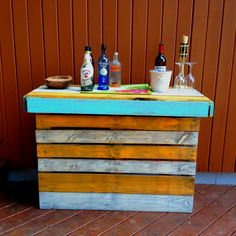 Pallet bar all painted up!