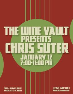 Chris Suter gig flyer  www.facebook.com/chrissuternc