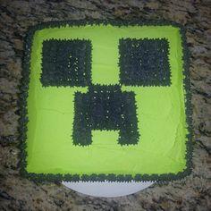 Minecraft cake. Chocolate cake, buttercream frosting.
