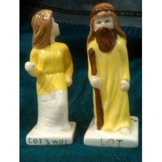 biblical salt shaker; guess which one is the salt?