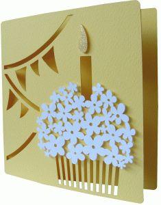 Daniela Angelova happy birthday card - template in Silhouette Cameo store