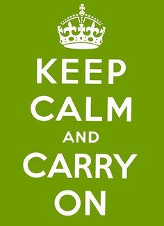 lime green keep calm original