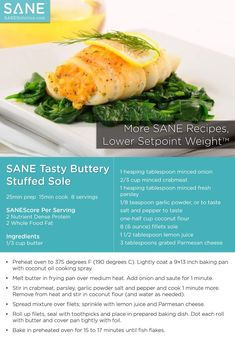 #SANE Tasty Buttery Stuffed Sole - Please feel free to share!