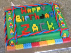 Fantastic lego cake - my youngest son would love this. Might have a go for his birthday if it's not too difficult!