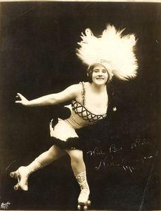 Roller skating Nellie Donegan, 1913