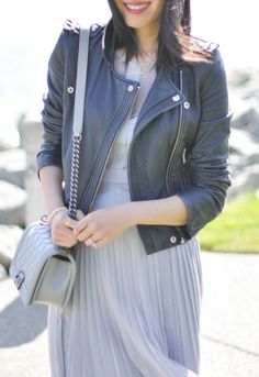 Must-Have: classic black leather moto jacket