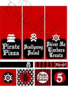 Pirate party printables!