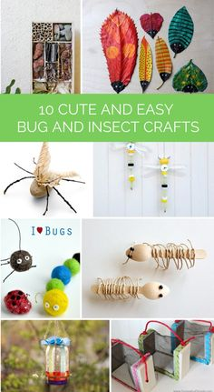 Cute and easy bug crafts and projects for the kids!