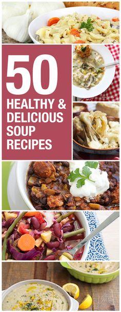 50 healthy soup recipes.