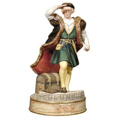 Royal Doulton Christopher Columbus  England  Dated 1991  Royal Doulton Christopher Columbus figurine. Limited Edition in presentation box with certificate of authenticity. Fine bone china. Collector's item.