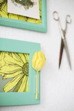 Love the colour combo! DIY: Fun Frames