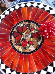 Butterfly Table - Hallmark's Art Glass