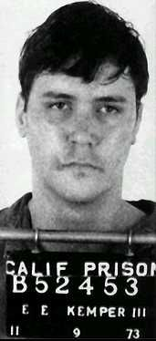 "Edmund Emil ""Big Ed"" Kemper III (born December 18, 1948),[1] also known as ""The Co-ed Killer"",[2] is an American serial killer and necrophile who was active in California in the early 1970s. He started his criminal life by murdering his grandparents when he was 15 years old.[2] Kemper later killed and dismembered six female hitchhikers in the Santa Cruz area. He then murdered his mother and one of her friends before turning himself in to the authorities days later."