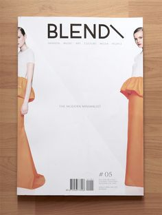 BLEND MAGAZINE, ISSUE 05 THE MODERN MINIMALIST: really like this cover. not my favorite jil sander. #blend_magazine #magazine #cover #jil_sander