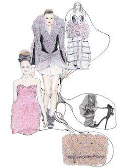 runway fashion illustration