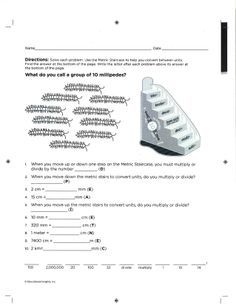 #Math worksheet from Magnetic Metric Staircase - Page 2.