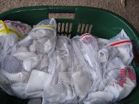 Have each kid put their dirty socks in a mesh bag and wash. No missing socks! I Love it!