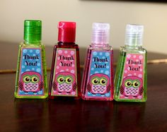 Owl Party Favors  1 fl oz Pocket Hand Sanitizer by margaretsoo
