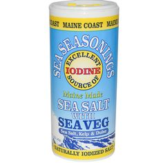 Great product: Excellent Source of Iodine --- Sea Salt, Kelp & Dulse --- Maine Coast Sea Vegetables, Sea Seasonings, Sea Salt with Sea Veg, 1.5 oz (43 g) -- Make sure you're not iodine deficient, as there's compelling evidence linking iodine deficiency with breast cancer. Read more: http://articles.mercola.com/sites/articles/archive/2013/05/27/angelina-jolie-double-mastectomy.aspx <- See the interesting article about Angelina Jolie and breast cancer.