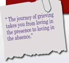 The journey of grieving takes you ...