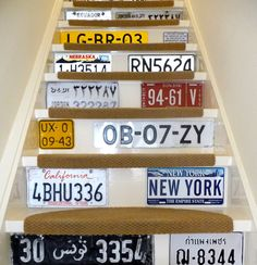 Stairs and license plate