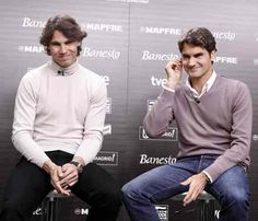 Rafael Nadal and Roger Federers charity tennis match