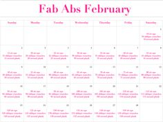Fab Abs February Challenge