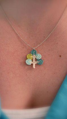 necklac charm, hook, family trees, crochet motif, diy fashion, pendant, tree designs, crochet necklace, crochet tree