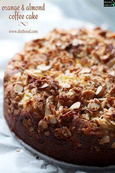 Orange and Almond Coffee Cake almond coffe, coffee cakes, orang, coffe cake, treat
