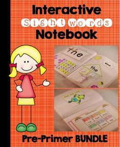 Pre-Primer Sight Word Interactive Notebook Bundle ($)