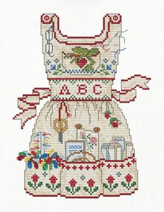 Stitcher's Apron - Cross Stitch Pattern