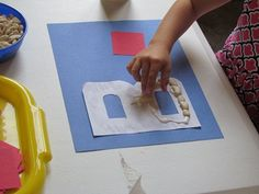 letter crafts, kinesthetic preschool, baseball preschool, abc crafts, alphabet letters