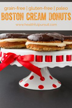 Paleo Boston Cream Donuts #Gluten Free