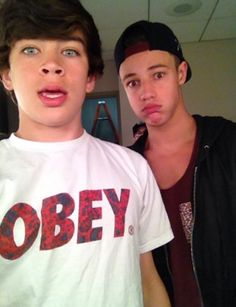 Hayes Grier and Cameron Dallas.❤️