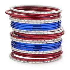Union Jack Bangle Stack! Celebrate the Queen's Diamond Jubilee in style!