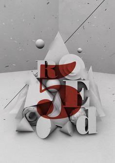 Red5  3d Type   www.behance.net/lostctrl