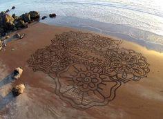 Andres Amador, l'artista della sabbia