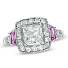 White + Pink Sapphire Ring