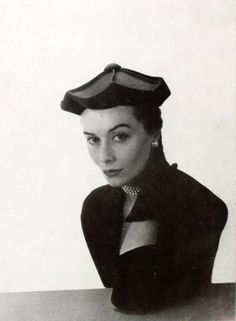 Hat by Janette Colombier, photo by Georges Saad, 1951