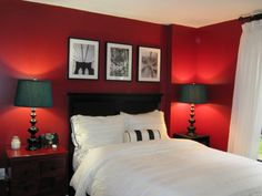 Red Bedrooms on Pinterest Red Bedroom Design Gray Red