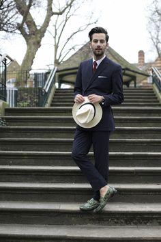 Blogger Matthew Zorpas wearing the Gucci 1953 Horsebit Loafer