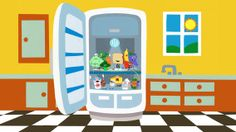 Peekaboo Fridge™ ($1.99) Who will be behind the refrigerator door when it opens? Find a new fruit, vegetable, or other delicious, healthy treat! Kids will learn the name of the item, watch it say hello, and dance along to the disco party that concludes the game. 13 fruits, veggies, and other whole foods are waiting to surprise your kiddos, in a different order each time.