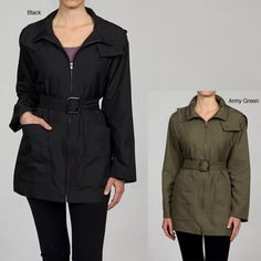 @Overstock - Keep cool weather at bay while looking cool with this belted Anne Klein coat. Made from a sumptuously soft polyester blend, this hooded coat comes in black or army green, and is perfect for adding a little bit of elegance to a simple outfit.http://www.overstock.com/Clothing-Shoes/Anne-Klein-Womens-Hooded-Belted-Coat/5671444/product.html?CID=214117 $36.99 belt coat, klein coat