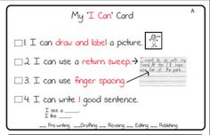 differentiated i can statements for writing